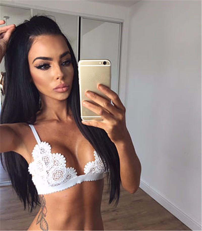f4b46f33414 Lace Triangle Bralette Unlined Bra Top Wireless Brassiere Bralet Sexy  Intimates Ultimate Crop Top Underwear Women