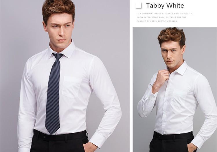 Long Sleeve Slim Men Dress Shirt 2017 Brand New Fashion Designer High Quality Solid Male Clothing Fit Business Shirts 4XL YN045