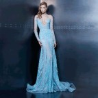 Off the Shoulder Long Dress Light Blue
