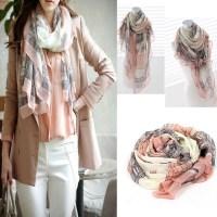 Elegant Women Long Print Cotton Scarf Wrap Ladies Shawl ...