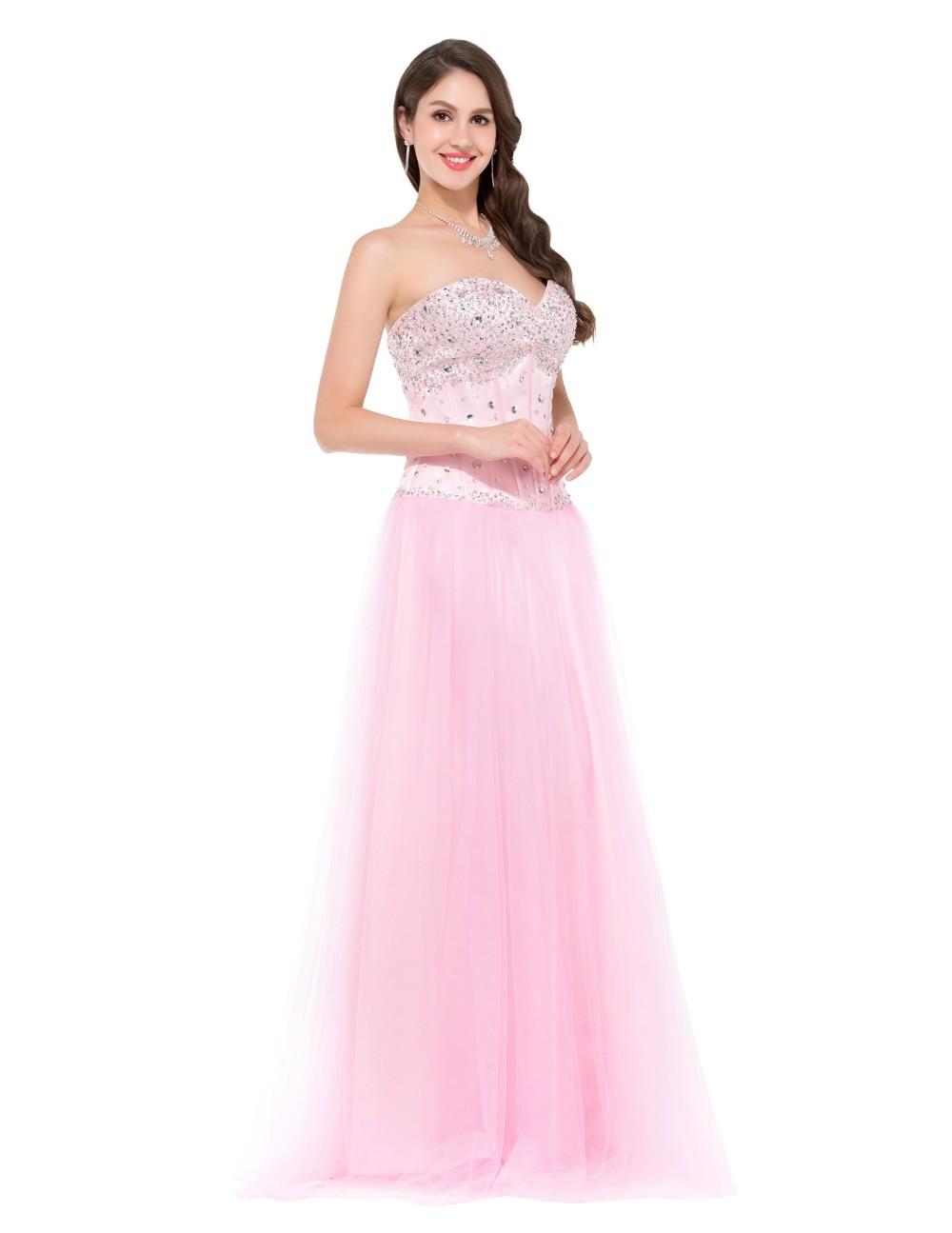 Envío Gratis azul blanco rosa Vestidos de dama de honor 2017 Crystal ...