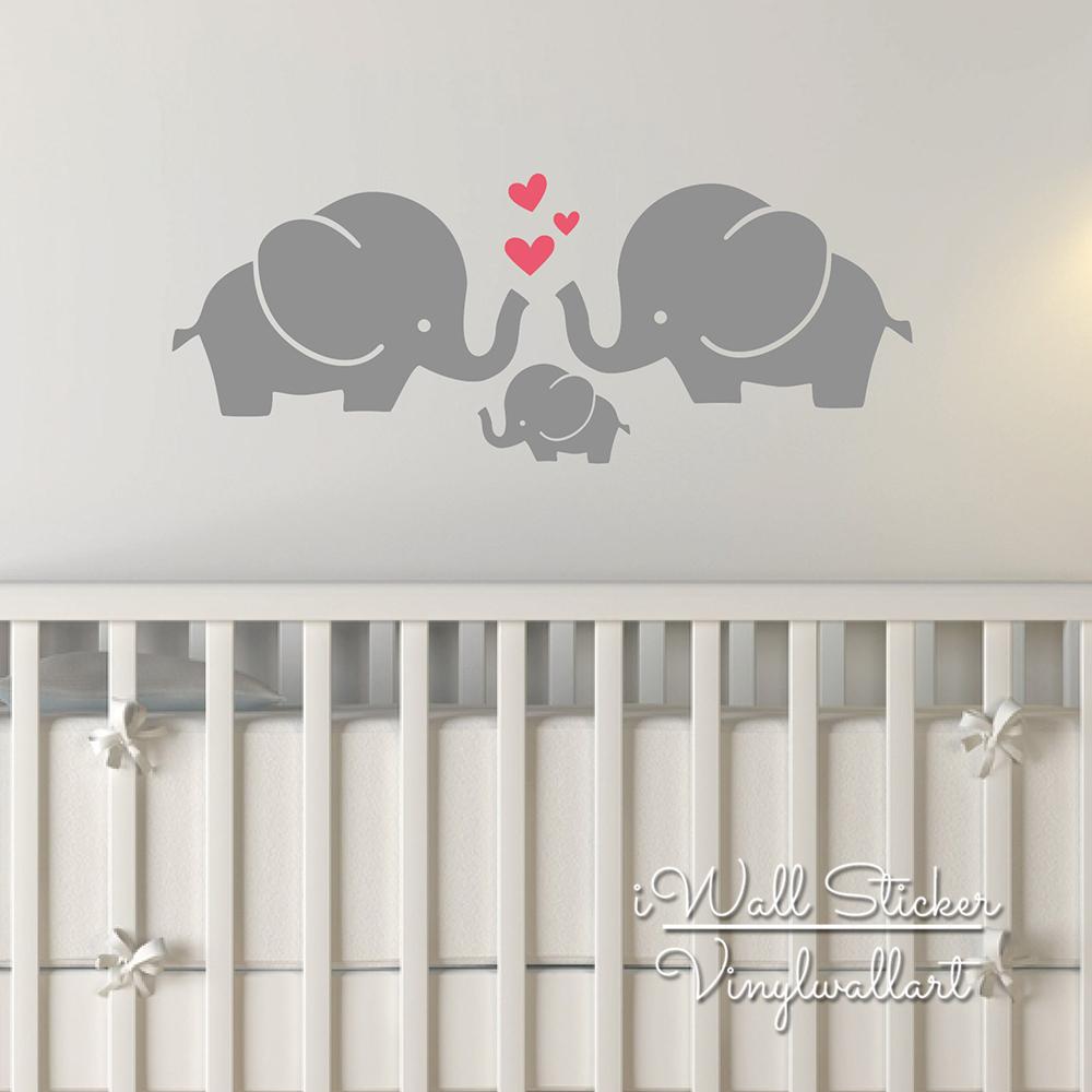 Elephant Wall Sticker Baby Nursery Elephant Wall Decal DIY