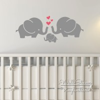 Elephant Wall Sticker Baby Nursery Elephant Wall Decal DIY ...