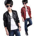 2016 Jackets Boys Outerwear Pu Leather Jackets For Boys Coats Fashion Kids Clothes 4 13T Children