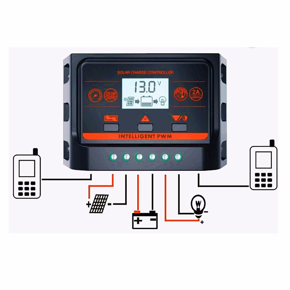 Pwm 12v 24v 30a Backlight Solar Controller With Usb 5v Light Details About Charge Regulator 30amp And Timer Control Lcd Panel Battery Ce
