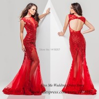 Aliexpress.com : Buy Sexy Women Red Sequined Long Mermaid ...