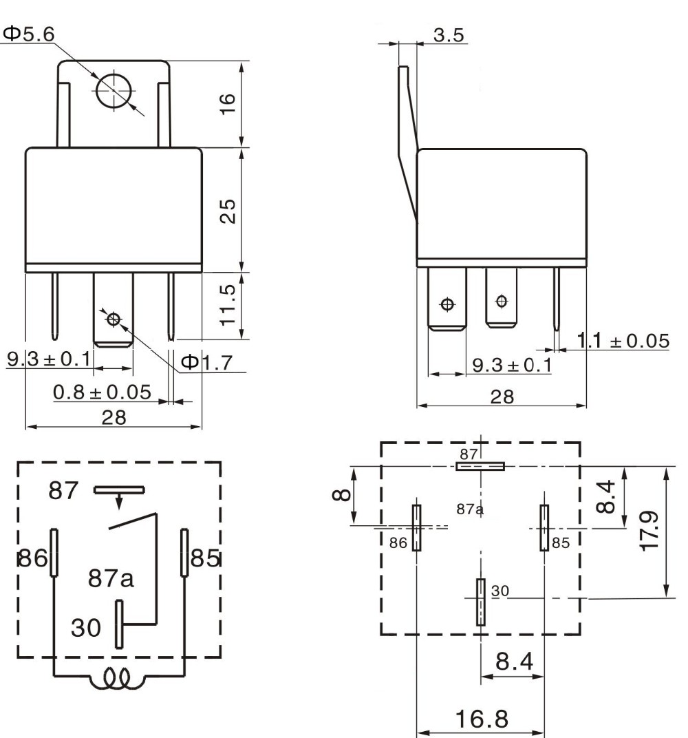 4 Pin Car Auto 12v 40 A Relay Relays With Bosch Style S Diagram For 12 Volt 5 Get Free Image About Wiring Harness Socket Pack
