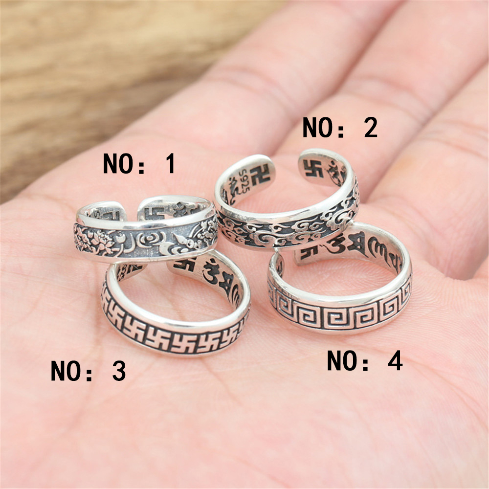 Genuine 100% 925 Sterling Silver Vintage Punk Personalized ...
