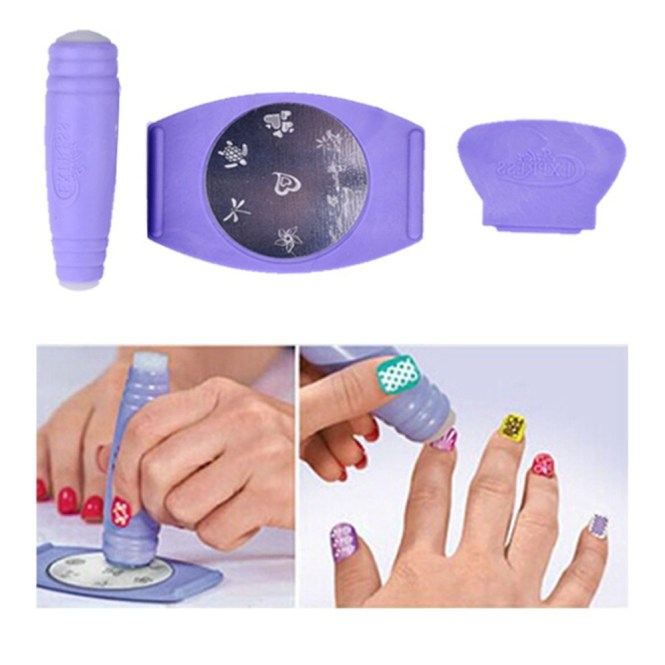 How To Make A Nail Stencil Art Stencils On Whole Plete Airbrush Kit 16 Color 240 Set