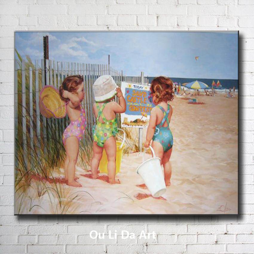 Online kopen Wholesale kinderen strand schilderijen uit
