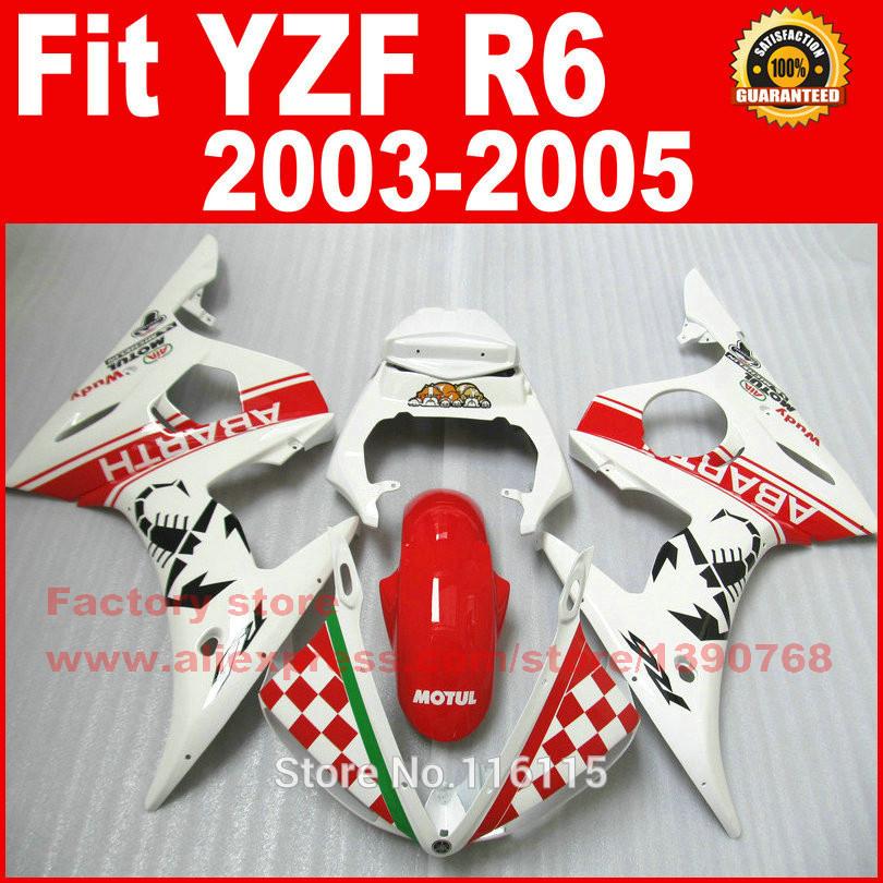 ②Plástico ABS carenados de motocicleta para 2003 2004 2005 Yamaha ...