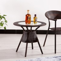 Natural rattan coffee table glass coffee table, dining ...