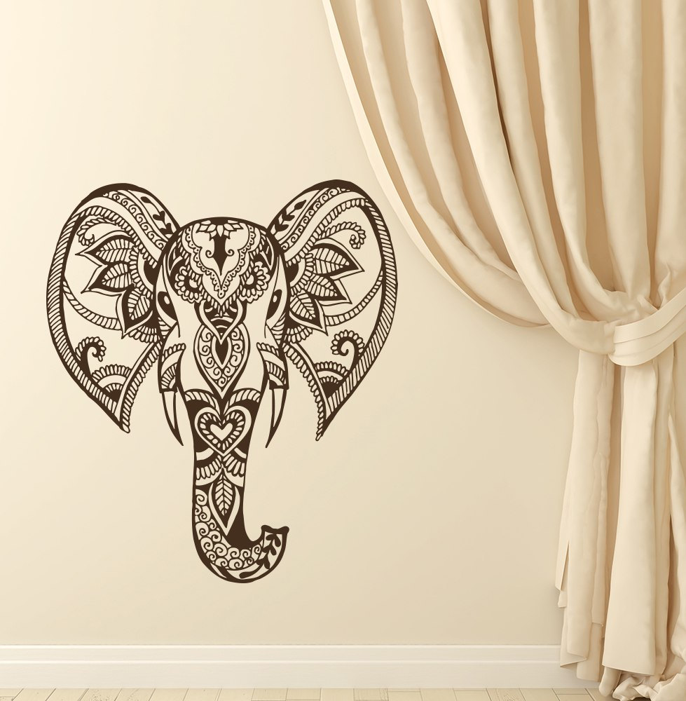 ᗜ LjഃBohemian Elephant Wall Decal Modern Design Fashion Wall ...