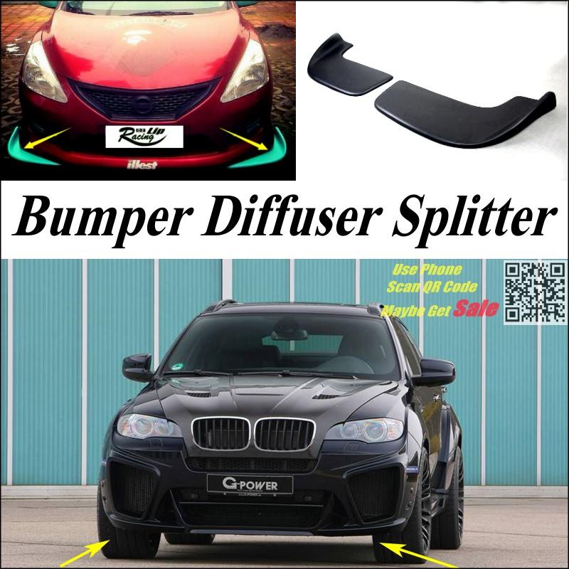 ᗕCoche Splitter diffuser parachoques Canard LIP para BMW X6/X6 M ...
