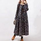 2016 Style Autumn Winter Women Dresses Vintage