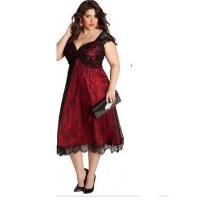 Plus Size Tea Length Prom Dresses - Boutique Prom Dresses