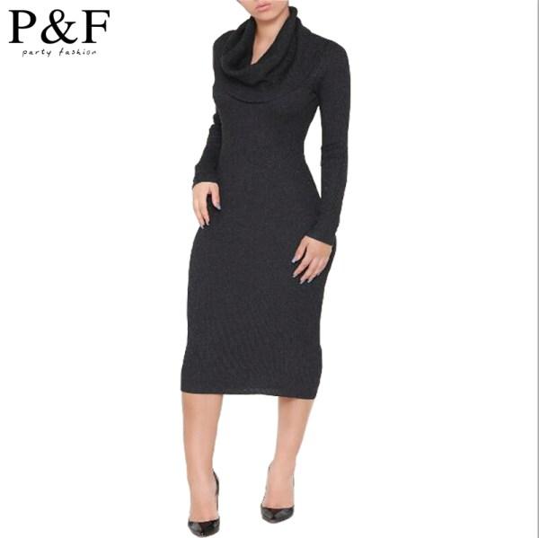 high collar black dress aliexpress com buy 2015 new brand long black autumn