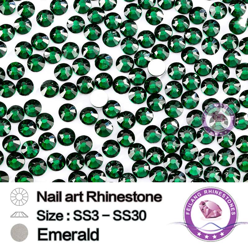 ₪1440 unids SS3 a ss30 brillante alta calidad Esmeralda NO CALIENTE ...