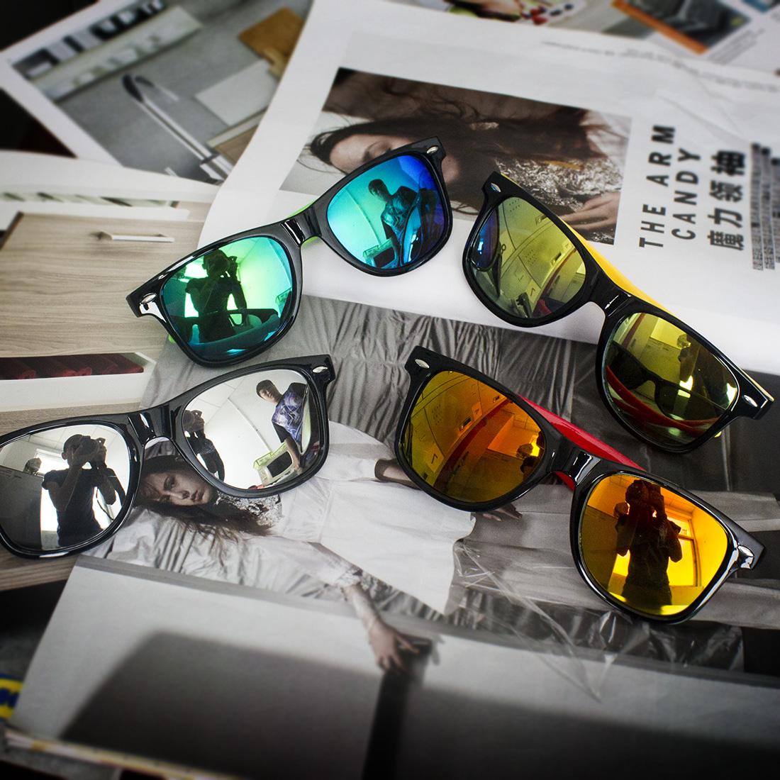 2016 Mode Nouveau Design Femmes Hommes Rétro Vintage lunettes de Soleil  Miroir soleil lunettes Lunettes Avec Boîte de Verre beaa8cc74ca9