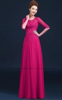 long sleeve bridesmaid dress purple | ivo hoogveld