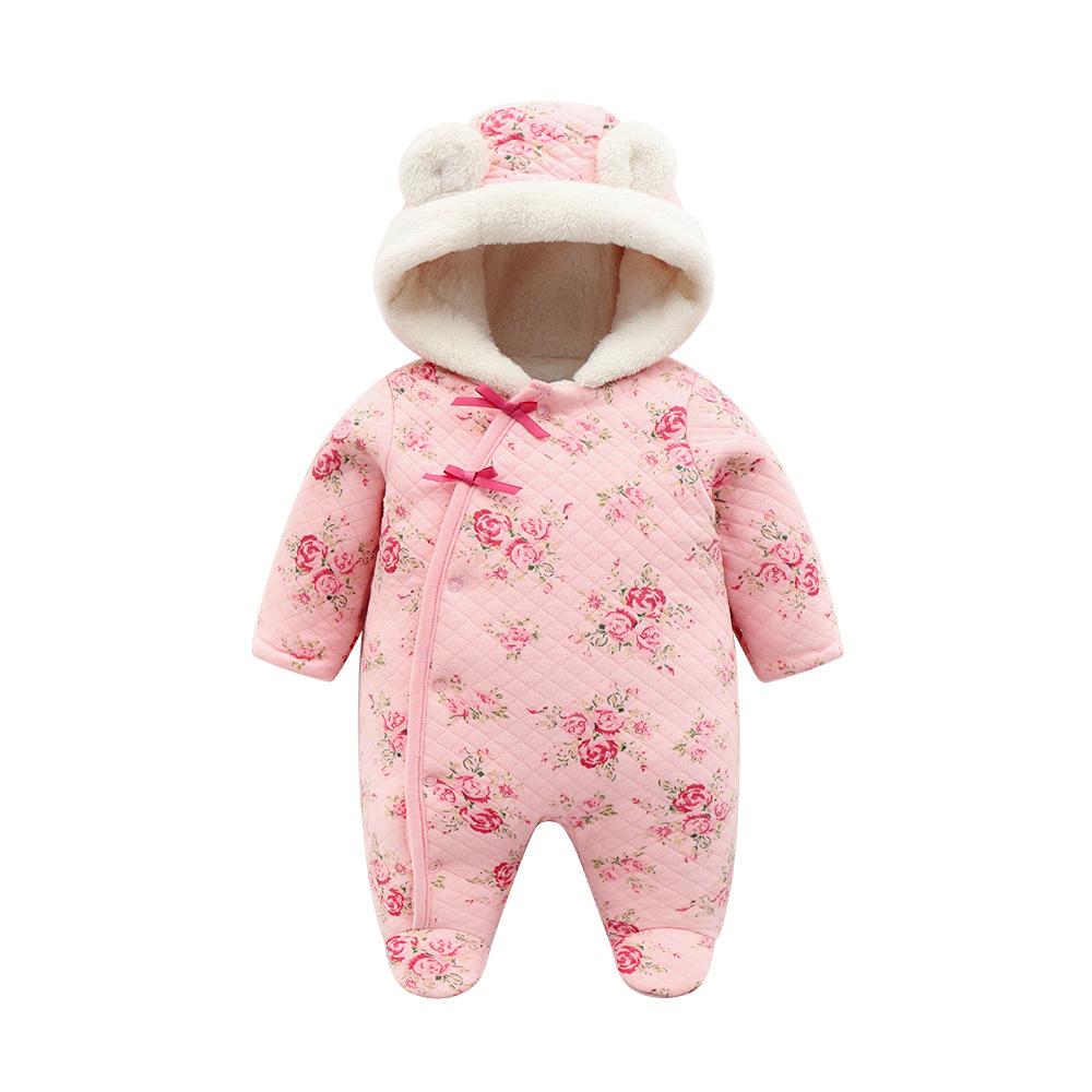 0318eaf66 2019 otoño invierno cálido bebé mamelucos ropa de niños Coral polar bebé  niñas disfraz Animal en general ropa de bebé monos