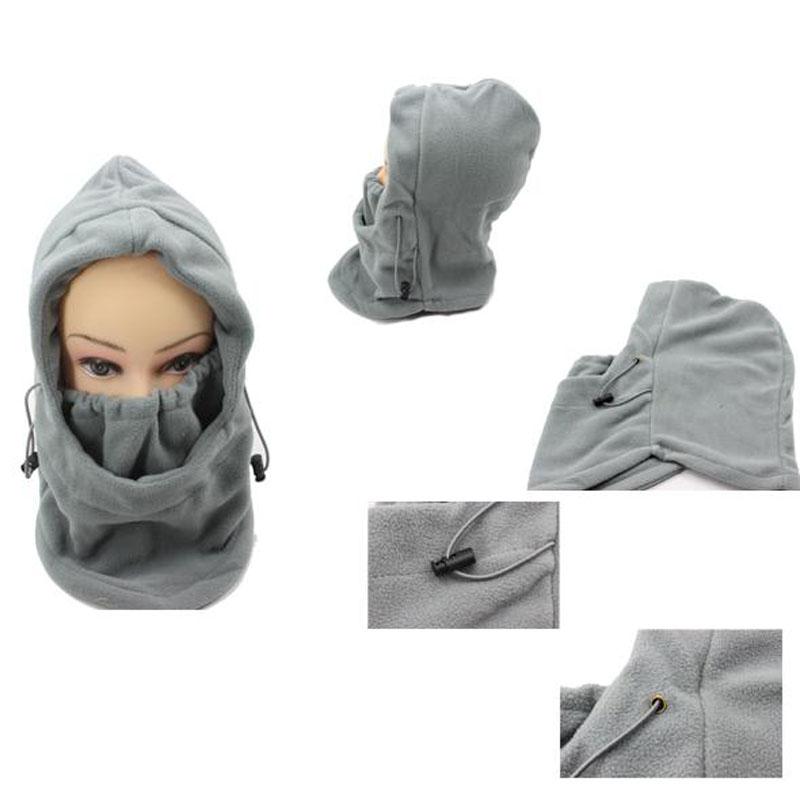 8fbe91a770ef8 ... hotsale gris sólido color invierno máscaras esquí máscara invierno al  aire libre caliente sombrero a prueba de viento ciclismo sombrero al aire  libreUS ...