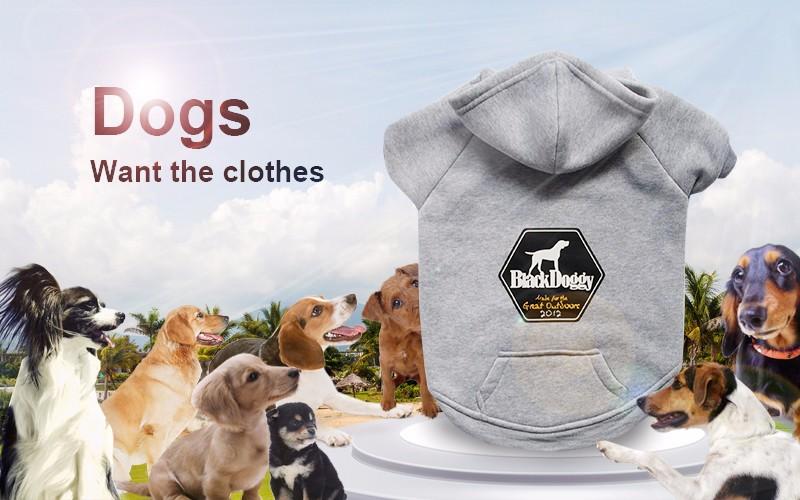 ᗛNegro perrito 2017 100% algodón Sudaderas para perro pequeño alta ...