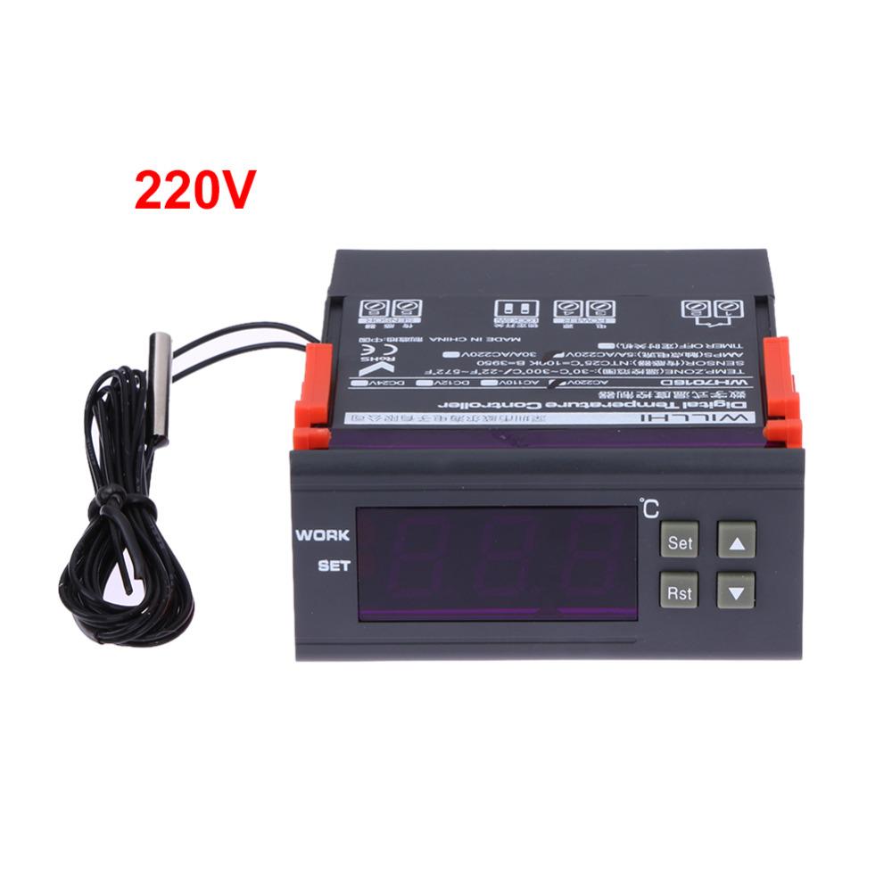 220 V Tubo Term Metro Digital Controlador De Temperatura Do