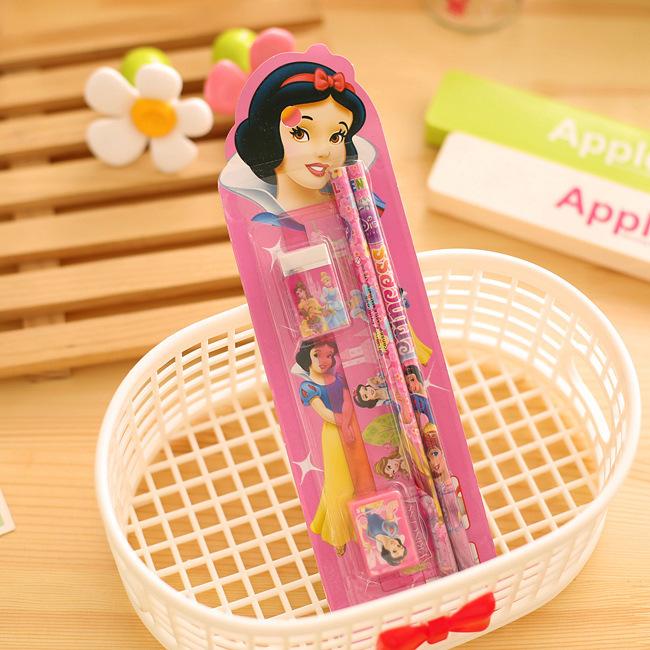 2619715583_1758922470  10packs/lot 5 in One Disny Mickey Snowwhite Kitty Pencil Writing Pen Stationery Kits Children Birthday Occasion Favor Take-home Items HTB1 1rlNpXXXXbJXXXXq6xXFXXXM