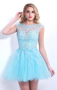 Prom Dresses Short Blue - Eligent Prom Dresses
