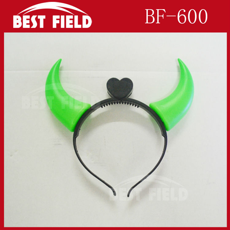 ⑥Envío libre 12 unids/lote LED Ox cuerno headwear flashing Light-up ...