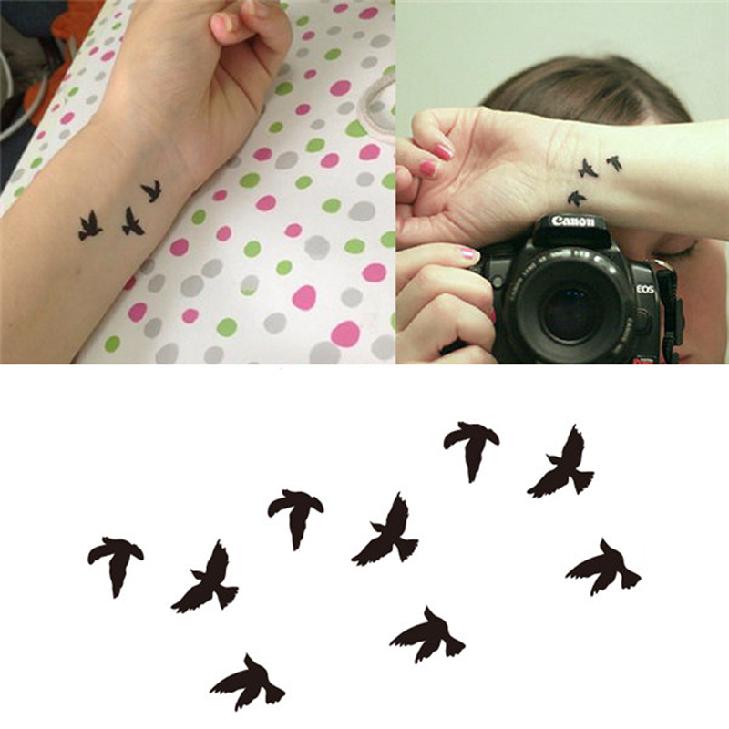 1pcs Women Finger Wrist False Fake Tattoo Stickers Liberty Small