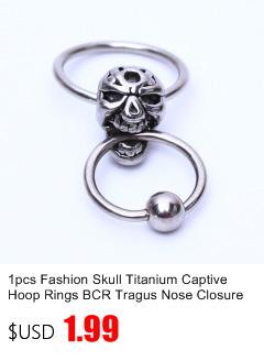 2pcs Unique Titane Acier Vampire Fangs Cartilage dent Punk Ear Stud Boucles d/'oreilles
