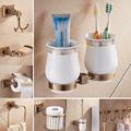 Luxury Design Brass Square Bathroom Hardware Accessory Towel Ring Hooks Toilet Brush Paper Holder Soap Dish