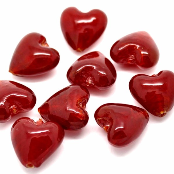 Online Red Heart Glass Beads China
