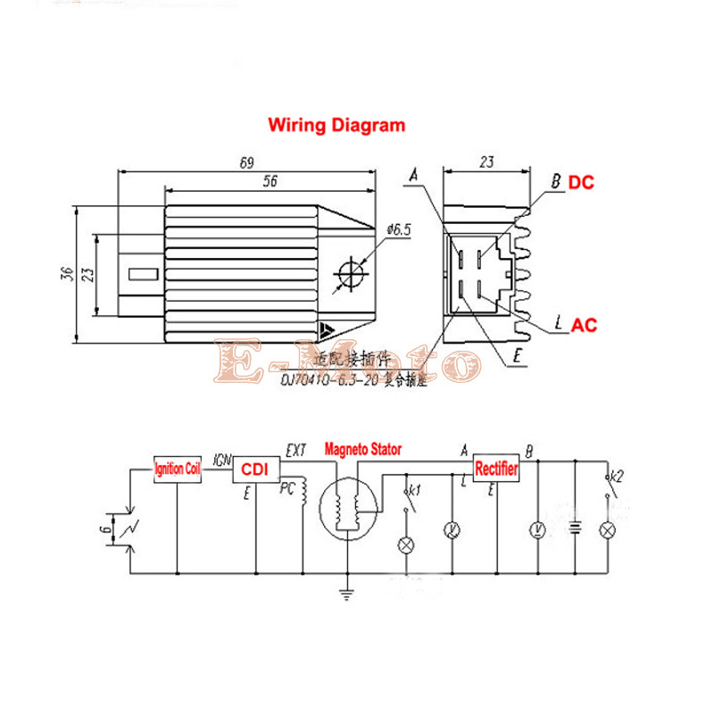 4 wire regulator wiring diagram for scooter regulator free printable wiring diagrams