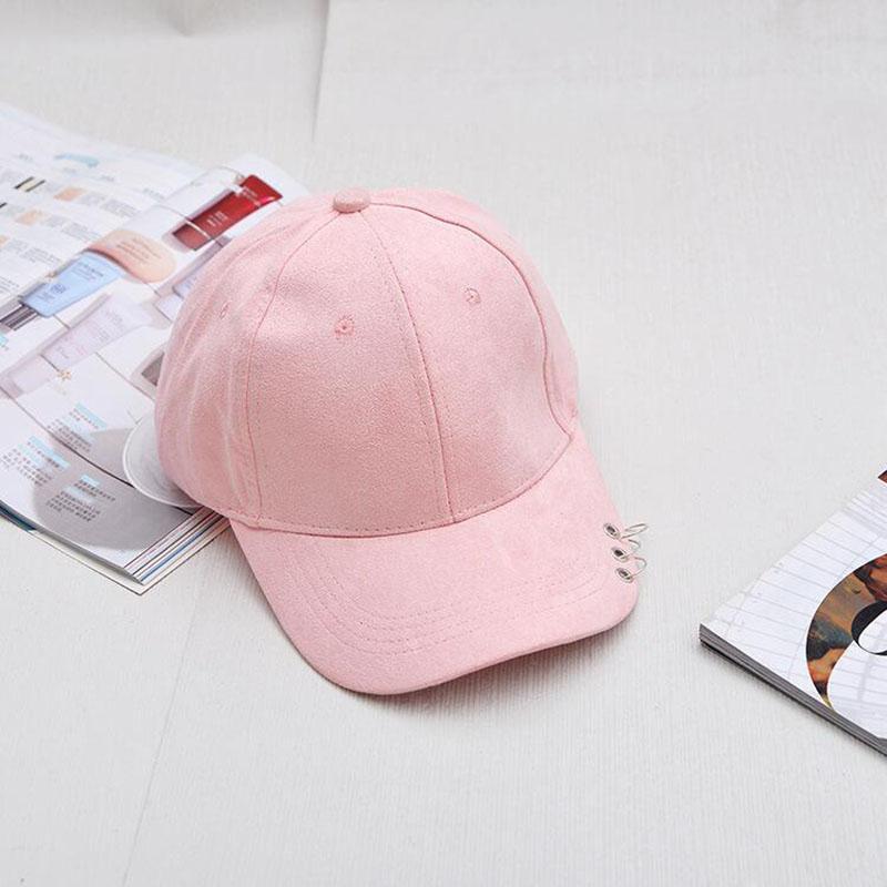 2017 Nuevo algodón creativo Piercing anillo punky gorra de béisbol ... 85ab40cef36