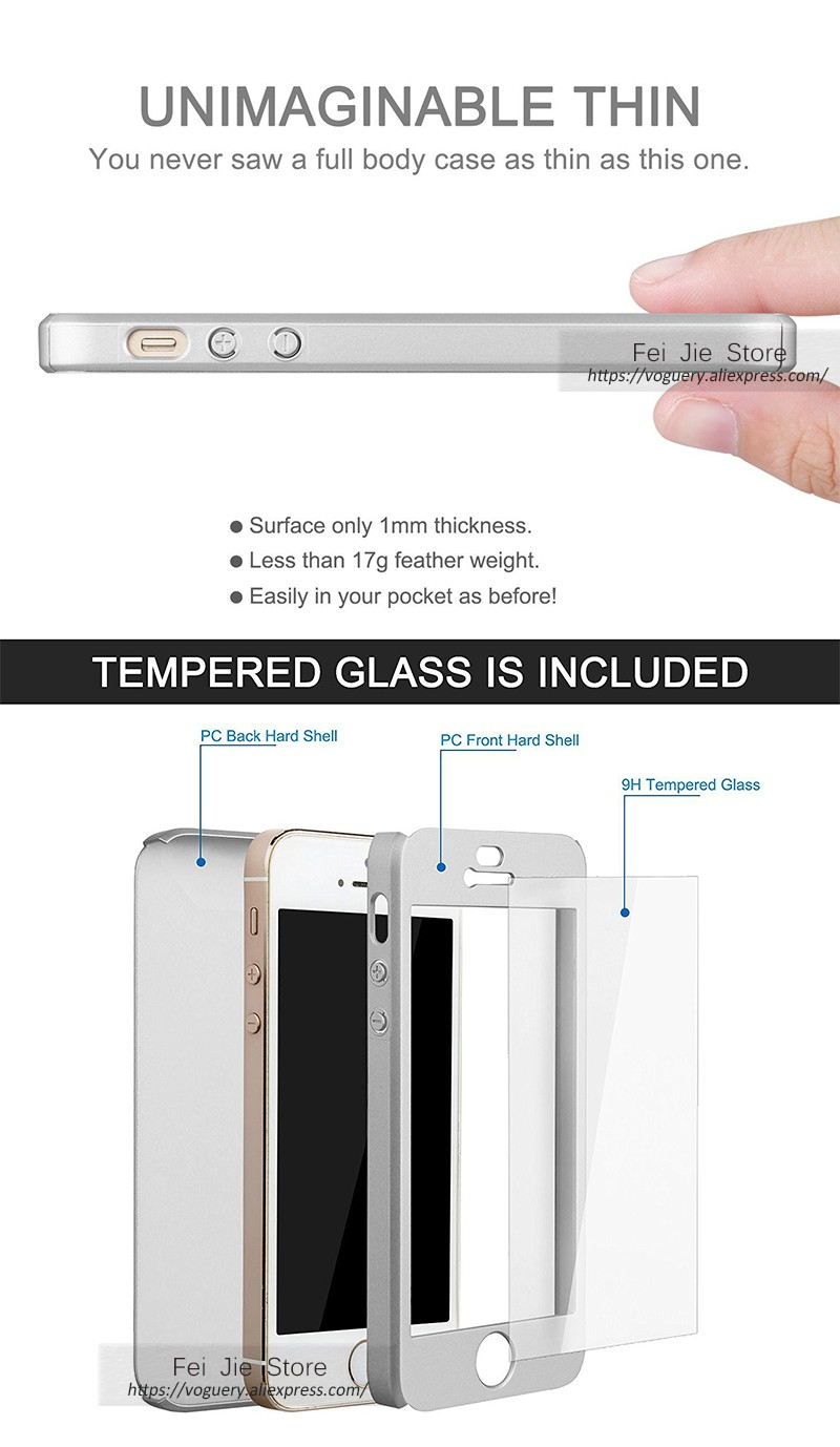 For Iphone 5 5s Full Body Case With Tempered Glass Screen 2in1 Gravity Cover 6 Plus Protector Coverage Slim Ring Kickstandusd 349 Piece