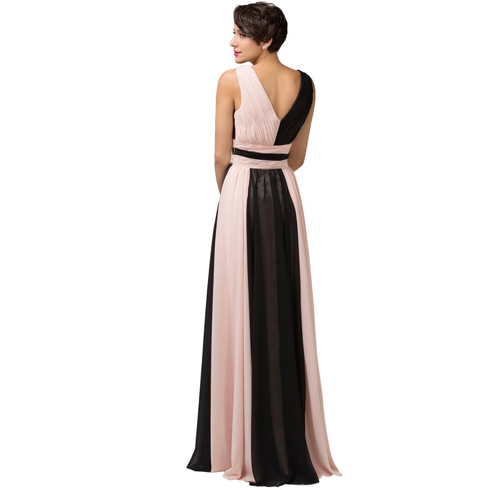 ✅2018 Elegant Long Evening Dresses Grace Karin black patchwork Pink ...