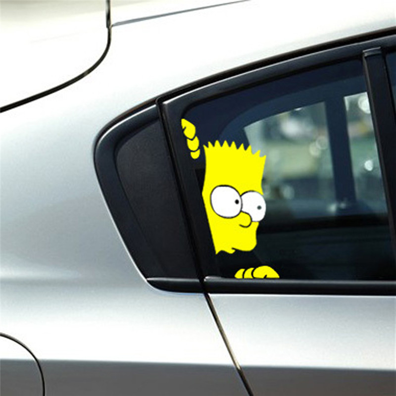 Peeking Simpson Reflective Car Styling Stickers Door