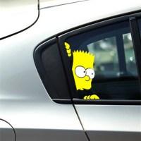 Peeking Simpson Reflective Car Styling Stickers Door ...