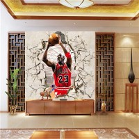 Corridor of 3D NBA basketball star Jordan gym background ...
