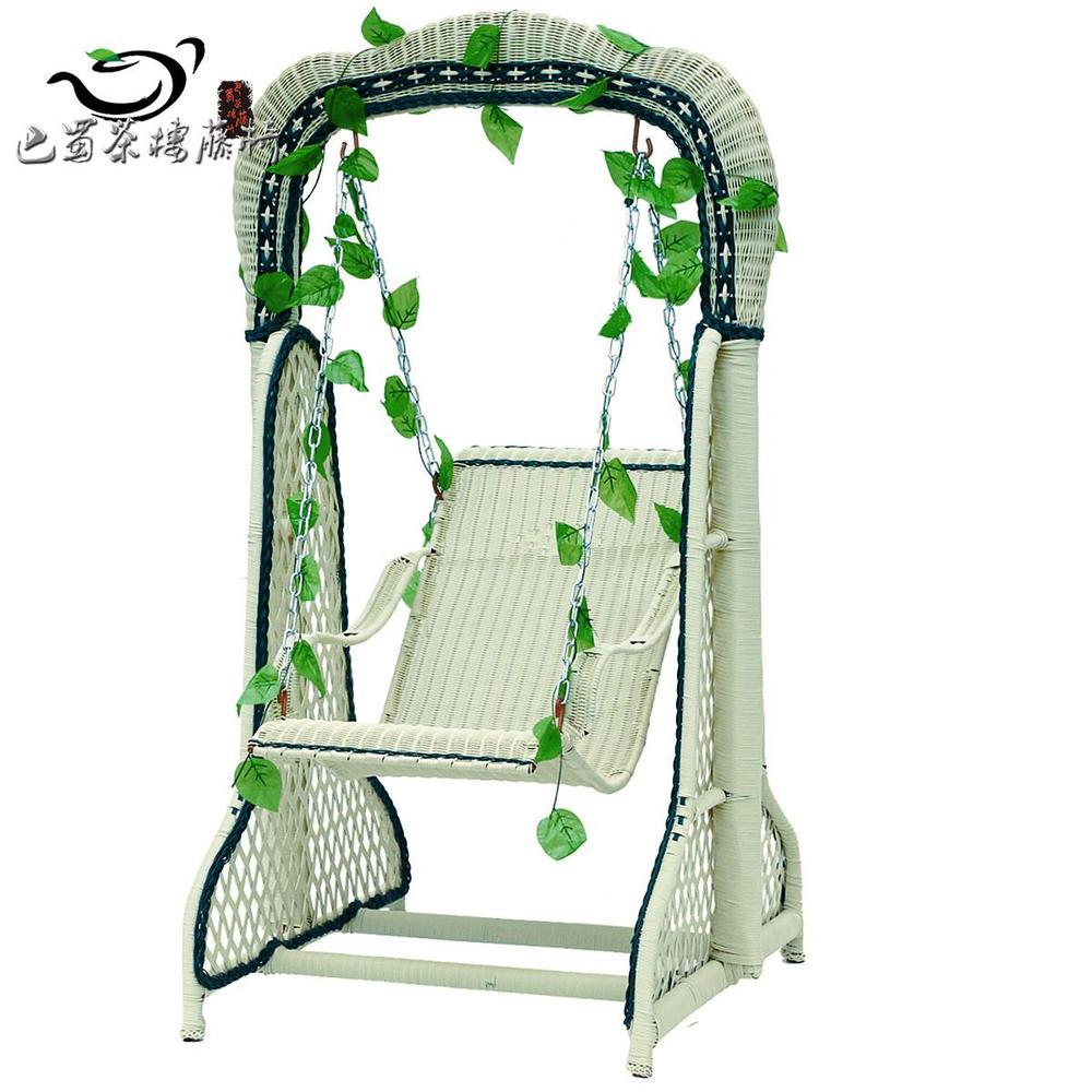 Chengdu handmade wicker chair swing hanging chair plastic