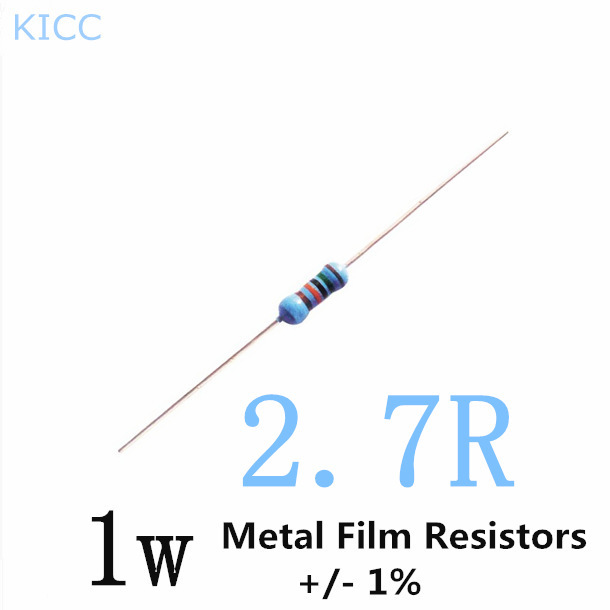 Aliexpress.com : Buy 1W 2.7 ohm 1% Metal Film Resistor 1w