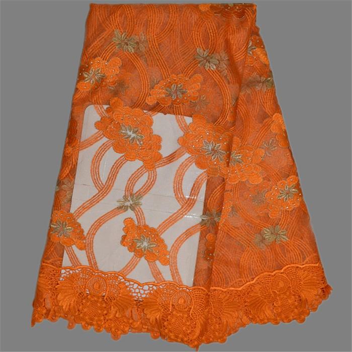 ᗐÉlégant Français net dentelle tissu pour la couture Africaine ... ce9042a5436
