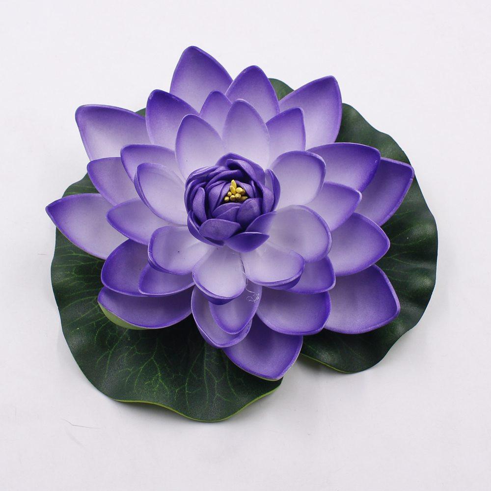 10pcslot 17cm Decor Garden Artificial Fake Lotus Flower Foam