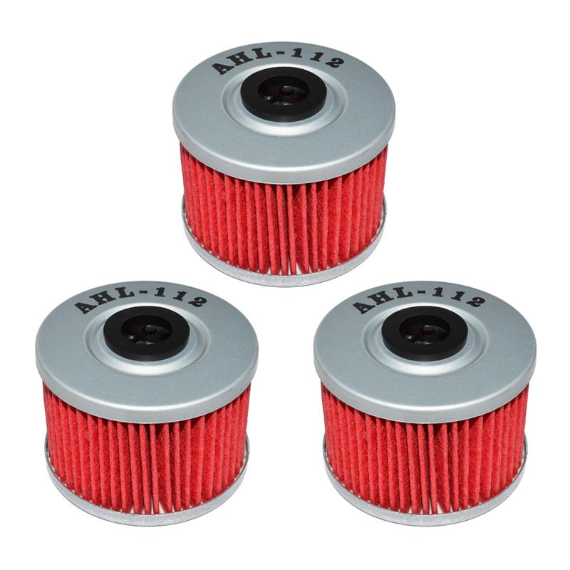 ᗖ3 unids piezas de la motocicleta filtro de aceite para Honda NX650 ...