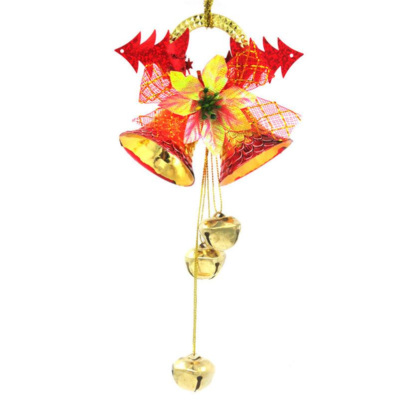 ᐂNavidad encanto campana 3 color Adornos árbol rattan guirnalda ...