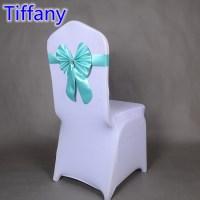 Tiffany colour wedding butterfly bow tie stretch sash ...