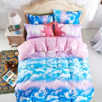 Fashion The blue sky and white clouds Bedding Sets,4pc bed ...